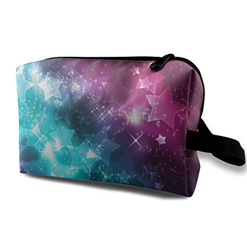 Kosmetiktasche Girly Stars wasserdichte Reisetasche mit Reißverschluss, geräumige Kosmetiktasche (Girly Buch Taschen)