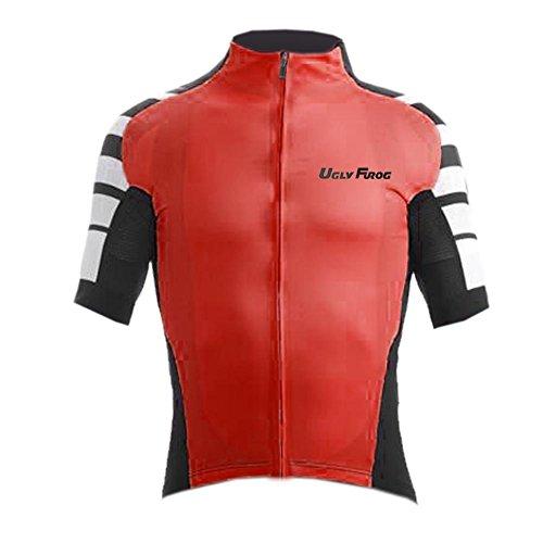 Uglyfrog Neue Sport im Freien Klassik Polyester Fahrradtrikot Frühling Herren Gemütlich Kurzarmtrikot Radfahren Jersey Triathlon Bekleidung (Triathlon Craft Bekleidung)