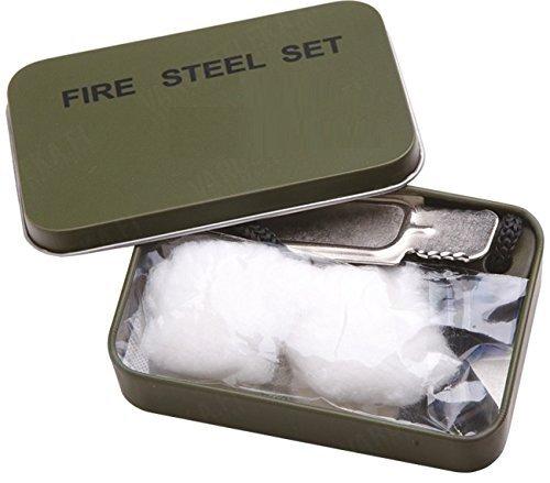Preisvergleich Produktbild G8DS® Zündstein Set Fire-Steel Hosentaschen Feuerstarter Anzündhilfe