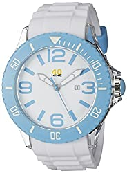 40Nine Mens 40NINE01/SKYBLUE3 Extra Large 50mm Analog Display Japanese Quartz White Watch