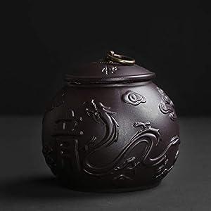 Fini à la main Porcelaine Canister de thé,Thé Jarres de stockage Boîte à thé Pour épices Bonbons Café Cookie 2 pcs-A 12x12cm(5x5inch)