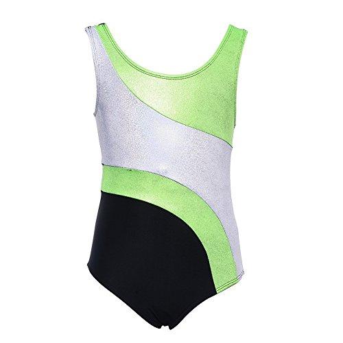Brightup Kinder Mädchen Gymnastik Leotards Ballett Tanz Abnutzungs Behälter Bodysuit (9-10 Jahre(EU 7-8J), (Kostüme Sieben Von Neun)