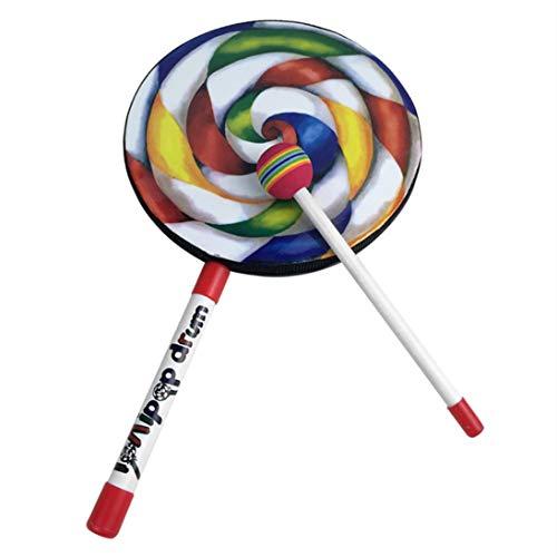 ToGames-ES Orff World Lollipops Patrón Infantil Tambor de Mano Instrumento de percusión Musical