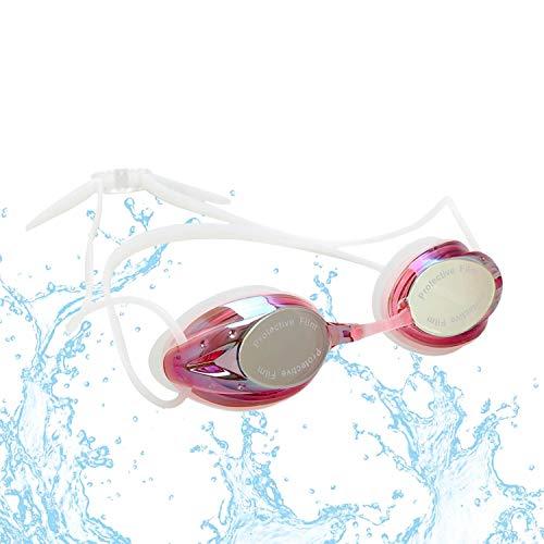 Ftalgs occhialini da nuoto,colore multiplo occhialini da nuoto anti-appannamento occhiali da nuoto agonistico protezione uv impermeabile, per donne, uomini, adulti, adolescenti e bambino (rosso)