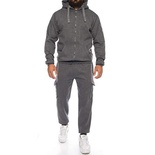 Finchman Finchsuit 1 Herren Jogging Anzug Trainingsanzug Sportanzug FMJS135, Dunkelgrau 03, XL Sweatshirt-hose