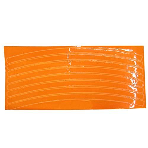 Louyihon-Fluoreszierende MTB Fahrrad Aufkleber Radfahren Felge Reflektierende Aufkleber Aufkleber Auto Aufkleber Audi Motorrad(Blau,Grün,Orange,Rot,Silber,Gelb) (Orange)
