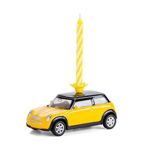 corpus delicti :: Kerze auf Rädern - Mini Cooper (gelb) (Im Modell Mini Cooper Maßstab)