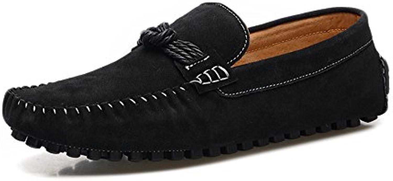 Yaojiaju Loafers Schuhe  Echtes Leder Slip on Driving Penny Mokassins Hanfseil Dekor Loafers für Männer