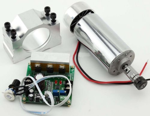 400 W DC Aire gekühlten eje motor Mini Spindle Motor 0.4 kW ER11 + Mach 3 PWM Speed Controller y Mount 3.175 mm Air Cooled Spindle Motor para CNC gravieren