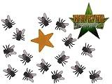 Deko Stern mit 15 Fliegen - Ich bin ein Star - holt mich hier raus - Dschungelcamp - für Party Dekoration lustig eckelig Dschungelprüfung