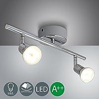 VINGO® GU10 Luz de techo LED Iluminación de techo moderna 2X 4W 2-flame habitación de niños Spotpanel flur Espejo de focos ligero Corredor de comedor Lámpara de techo de pared Lámpara de pared de pared [clase de energía A ++]
