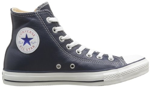 Converse Chuck Taylor All Star Core Lea Hi, Baskets mode mixte adulte Bleu (Marine)
