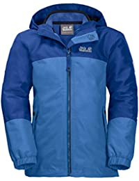 Jack Wolfskin G ICELAND 3IN1 JKT, wasser- und winddichte Outdoor Jacke, Winterjacke für Mädchen mit warmer Fleecejacke, robuste Regenjacke für Mädchen mit Reflektoren