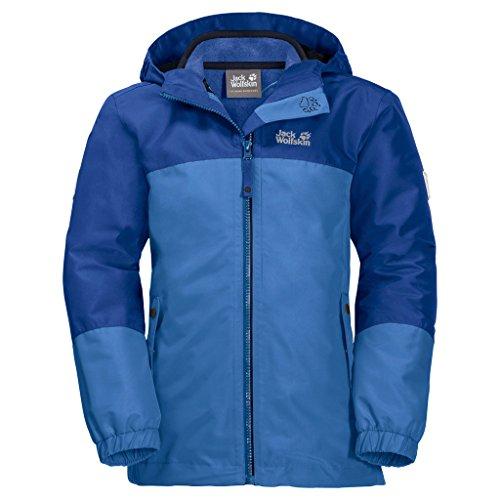 Jack Wolfskin Kinder G Iceland 3IN1 JKT 3-in-1-Jacke für Mädchen Wasserdicht Winddicht Atmungsaktiv 3in1-jacke, Zircon blau, 140