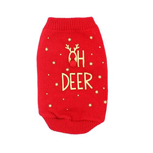 Weihnachten Haustier Hund Katze Winter Warm Deer Pullover -