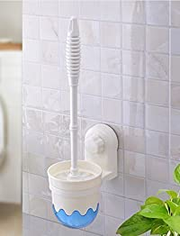 Sevia Wall-Mounted Toilet/Bathroom Brush Holder Set with Suction Cup