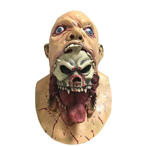 QXLhxuIo-Spielzeug Bloody Mask Melting Face Latex-Kostüm für Erwachsene Walking Dead Halloween Scary - Dead Disco Kostüm