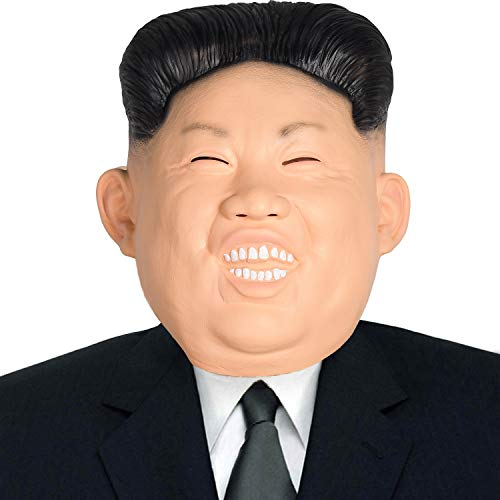 Finalshow Kim Jong un Maske Latex Tiermaske Kopf Menschlich Kostüm für Halloween Weihnachten Party Dekoration Latex Tiermaske Pferdekopf Kostüm für Halloween Weihnachten Party Dekoration Masken