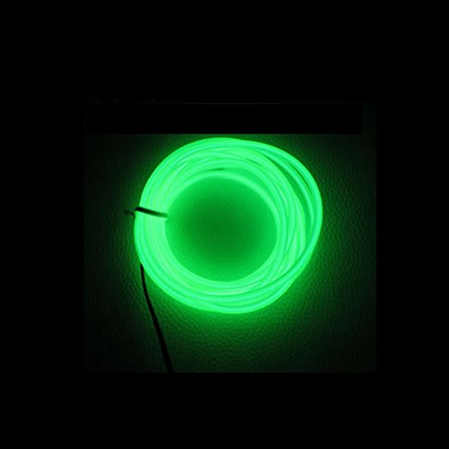 Ambientebeleuchtung Innenraumbeleuchtung Lichtleiste, Neon Beleuchtung Innenbeleuchtung Mit 12V Inventer fuer Auto (3M, Grün) ()