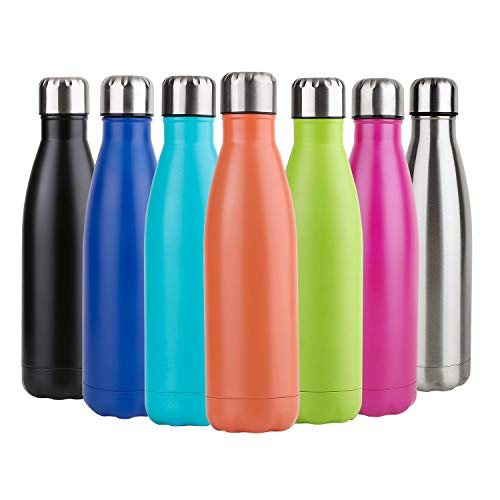 Hotchy Edelstahl Trinkflasche, Vakuum Isolierte Thermosflasche, BPA Frei 500ml Wasserflasche Auslaufsicher Thermoskanne für Kinder, Schule, Sport, Outdoor, Fahrrad, Fitness, Camping