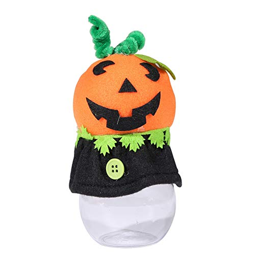 Yimosecoxiang Halloween Hot Halloween Kürbis Katze Party Hotel Candy Can Cookie Jar Transparent Decor Geschenk, Pumpkin*