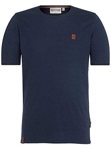 Herren T-Shirt Naketano Bumsebumse Shirt IV T-Shirt Farbe : Blau - Dark Blue Gr.M