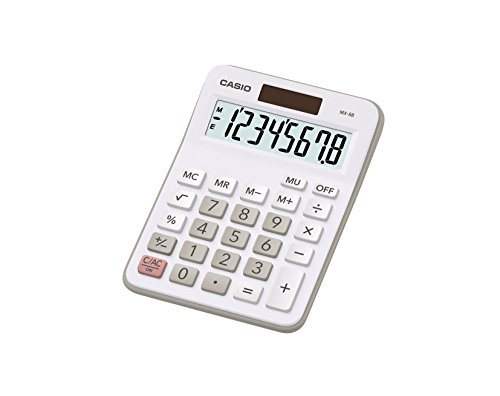 Casio MX-8B-WE - Calculadora básica, gris