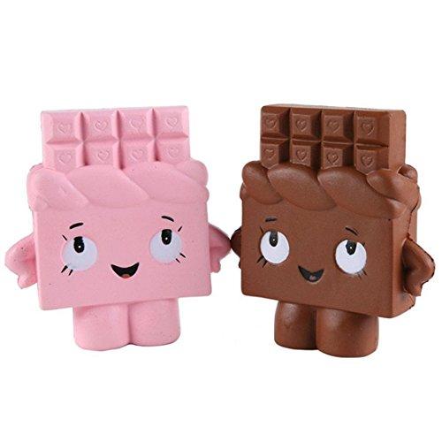 Mochi squishy squeeze toy, yeehoo 2pz squishy kawaii giocattoli squishy slow rising cioccolato antistress morbido mini squishy toy per bambini adulti