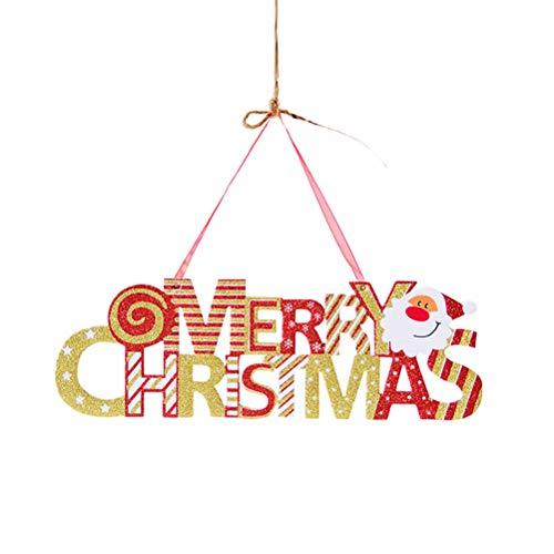 PRETYZOOM 30 cm Weihnachten Buchstaben Anhänger Hängen Bord Cartoon Schaum Weihnachten Anhänger Wand Tür Decor für Home Hotel Shop Restaurant (Goldene Größe M)