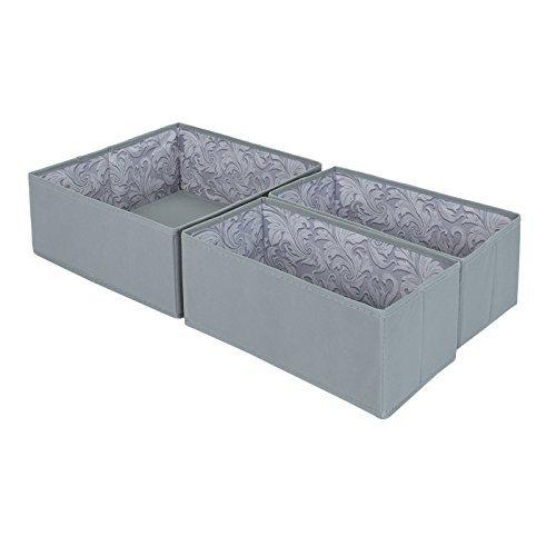 tessuto-cassetto-organizzatori-grigio-spagnolo-con-feather-leaf-interni-3-pack-1-grande-e-2-scatole-