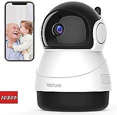 Victure FHD 1080P Telecamera di Sorveglianza WiFi,videocamera IP Interno Wireless con Sensore di Movimento, Visione Notturna,Audio Bidirezionale