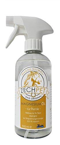Pferde-Zubehör Magnesium-Öl-Spray ZECHPET 500 ml PET-Sprühflasche - Magnesiumöl-Spray für das Pferd im Reitsport