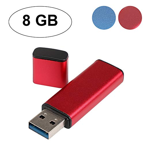 TAOtTAO USB 3.0 8/16 / 32/64 /128 GB USB-Flash-Laufwerke Memory Stick Pen-Speicher Digital U Disk (rot, 8G) -