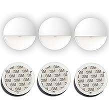 3 piezas LED Sensor de movimiento de luz, luz de noche automática de interior, Luz de inducción a batería, Stick-anywhere Luces del armario, Luces de la escalera, Puck Lights, Luces seguras, Luces del pasillo