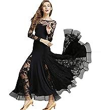 JRYYUE Dentelle Robe de Bal Les Femmes Jupe Performance Valse Robes Danse  Sociales Modernes Vêtements Pratique 5be237bc9c9