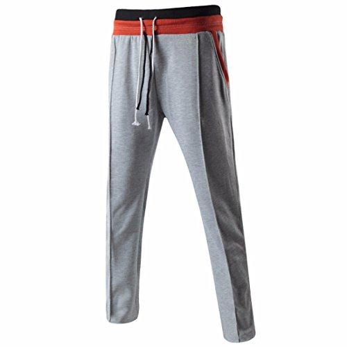 Men's Long Casual Joggers Trousers Chocolate Gainsboro