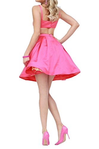 Promgirl House Damen 2016 Modisch A-Linie Satin Ballkleider Cocktail Party Abendkleider Kurz Gelb