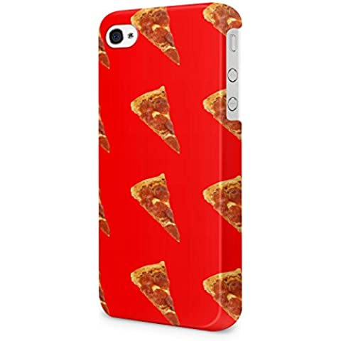 Red Pizza Food Pattern Hard Snap-On Protective Case Cover For Iphone 4 / Iphone 4s