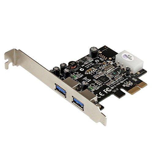 StarTech.com 2 Port USB 3.0 PCI Express Schnittstellenkarte  mit UASP und 4 Pin LP4 Molex - 2-fach SuperSpeed USB PCIe Karte