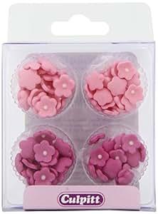 Mini Daisy Sugar Decorations - Pink