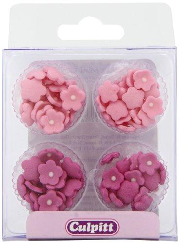 Culpitt fiorellini di zucchero rosa decorazioni per torte (1 confezione x 100 decorazioni)