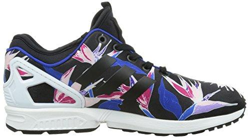 adidas Zx Flux Nps, Low-Top Sneaker homme Schwarz (Core Black/Bold Blue/Yellow)