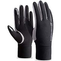 Par de guantes, pantalla táctil de invierno cálido forro polar forrado guantes impermeables a prueba de viento al aire libre deportes guantes para montar a esquiar