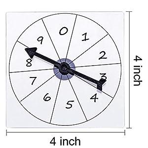 5 Pack de Spinners Transparentes Spinner de Matemáticas de Borrado Seco con Flecha Giratoria para Juegos y Enseñanza