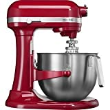Bundle 2 Items: Kitchen Aid Artisan 5KSM7591, Acucraft Acupwr Plug Kit, RED , Heavy Duty Stand Mixer, Works In 183 Countries, 220-volt