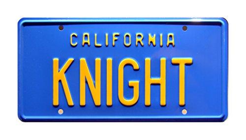 Preisvergleich Produktbild Celebrity Machines Knight Rider / Michael Knight's '82 Trans Am 'KITT' / Knight / Metal Stamped Vanity Prop License Plate