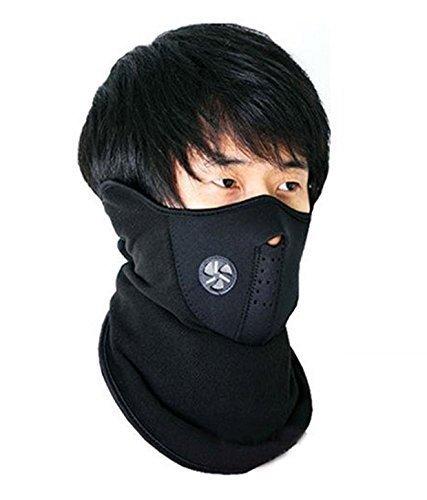 J Neoprene Half Face Bike Riding Anti-Pollution Face Mask For Bikers Black