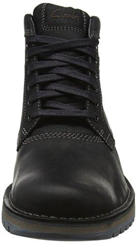 Clarks Herren Varby Top Klassische Stiefel Schwarz (Black Leather)
