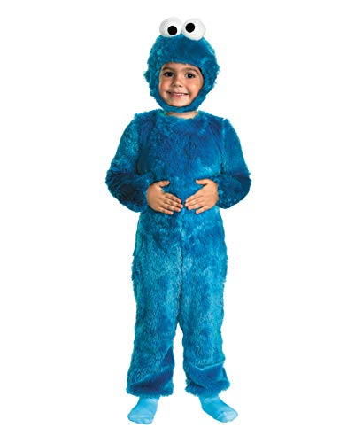Horror-Shop Krümelmonster Kinder Kuschel Kostüm für Karneval oder Halloween 2 Jahre (Sesamstraße Baby Kostüm)