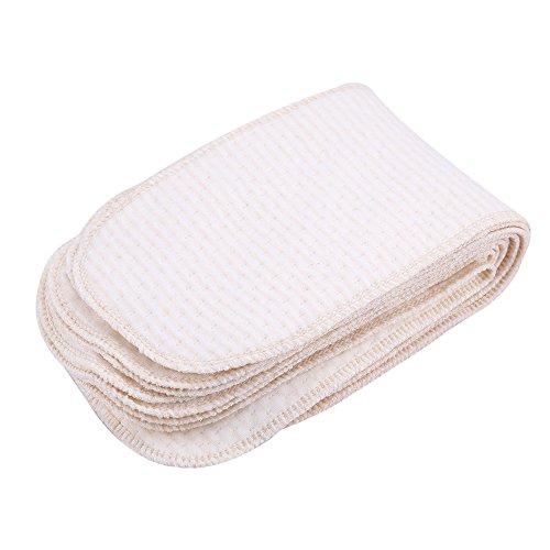 Zerodis 10Pcs Baby Stoff Windeleinlagen Weich Atmungsaktiv Baumwolle für Neugeborenen Kleinkinder Waschbar Wiederverwendbar